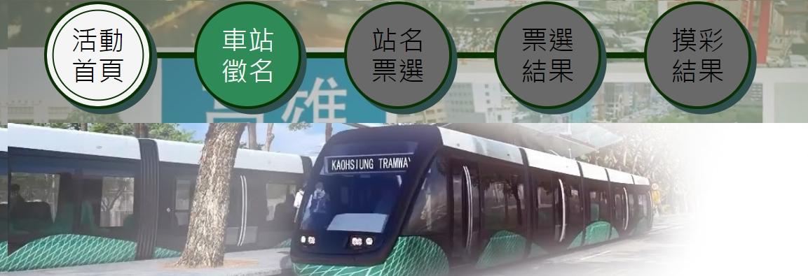 「高雄環狀輕軌C15-C37車站徵名」活動