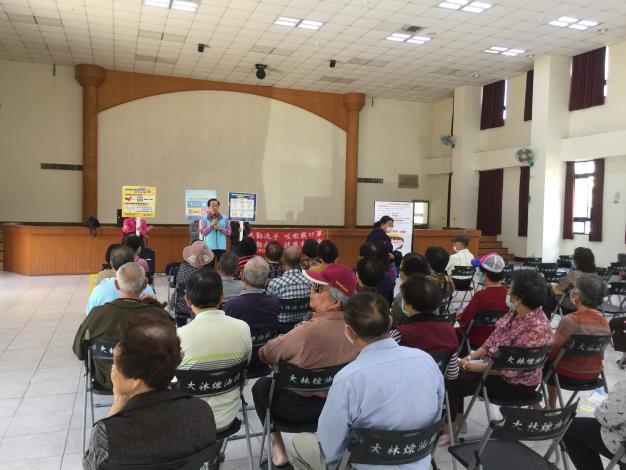小港區大林浦活動中心嚴重特殊傳染性肺炎宣導