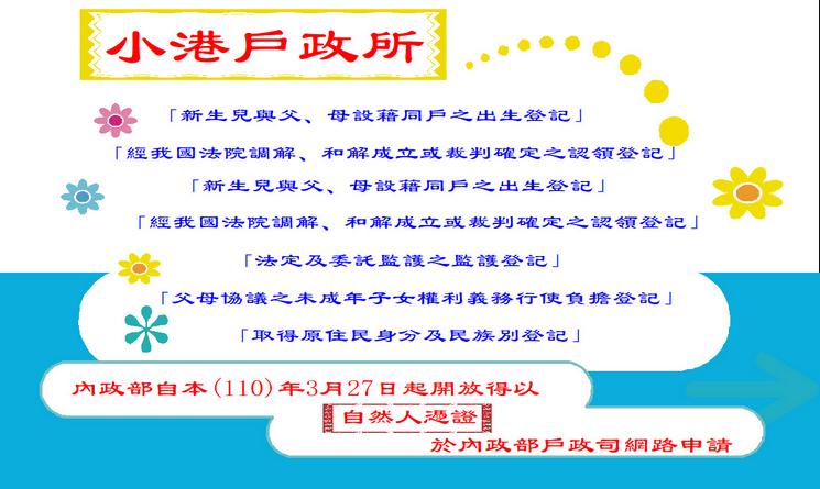 110內政部開放自然人網路登記項目