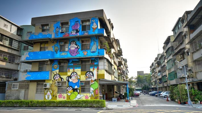 建軍路8巷1號牆面彩繪