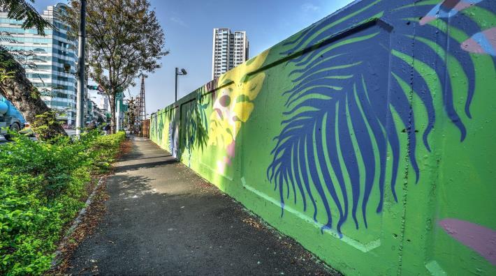 凱旋里凱旋路圍牆彩繪