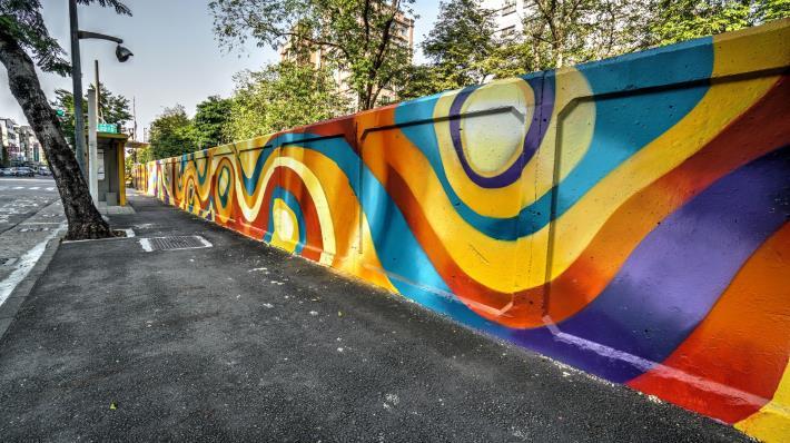 林德里凱旋路圍牆彩繪
