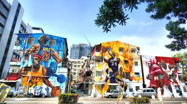 明德街1號牆面彩繪