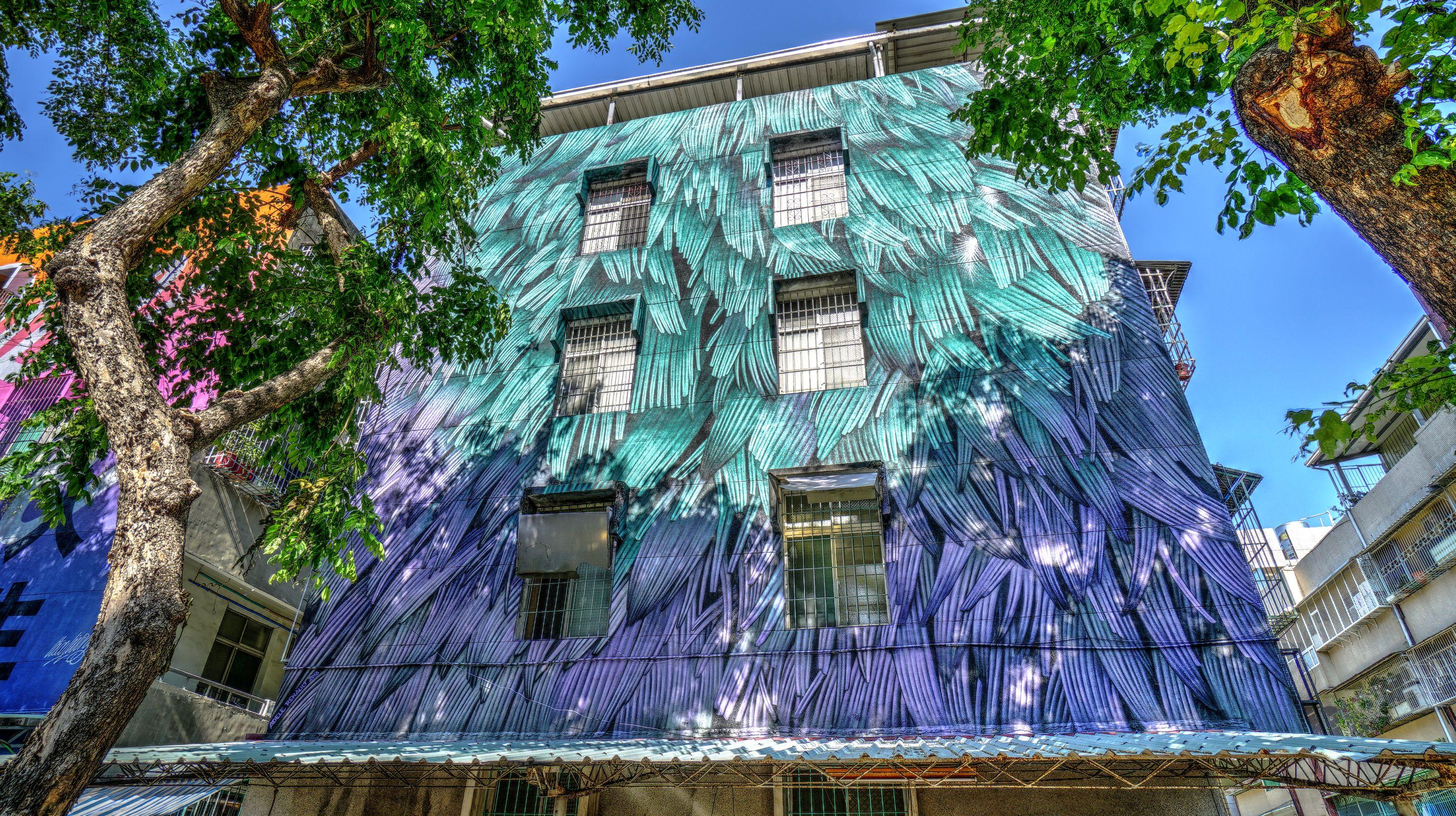 澄清路7巷16號牆面彩繪