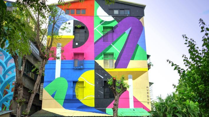 行仁路24號牆面彩繪