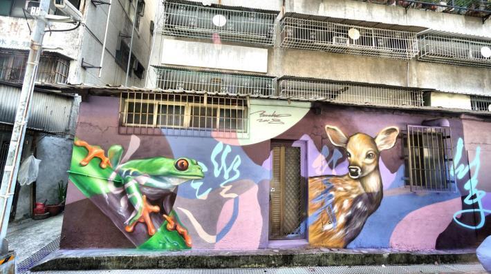 行仁路42號至46號牆面彩繪