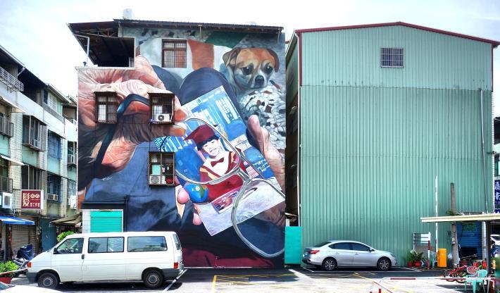 武慶三路43巷37號牆面彩繪