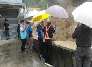 萬壽橋工程因大雨造成土石宣洩