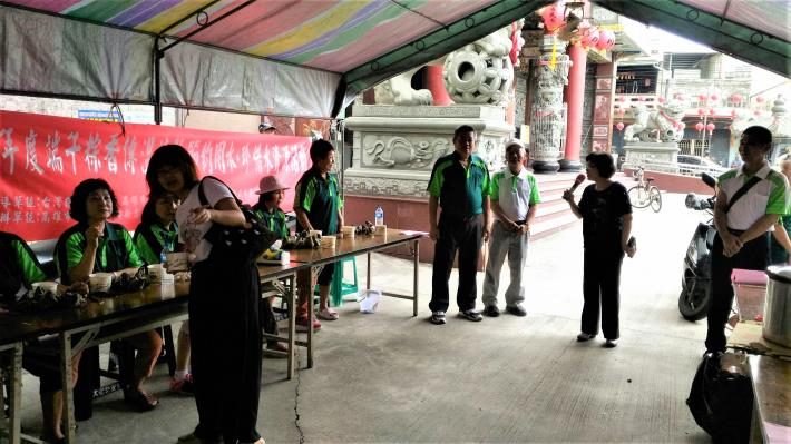109年6月21日汪區長參與大樹新吉庄社區端午節活動