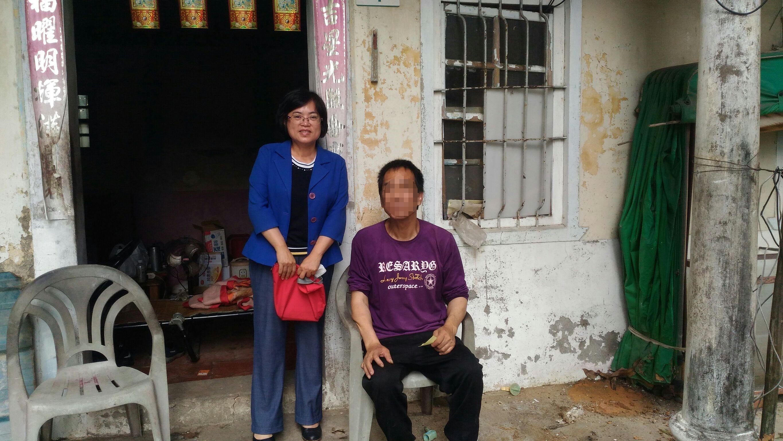 109年8月20日汪區長關心獨居中低收身障民眾