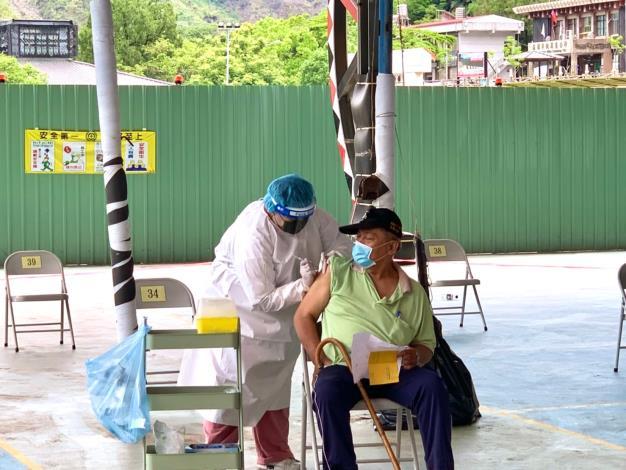 6月24日桃源區65歲以上疫苗接種情形-感謝大家,圓滿完成。
