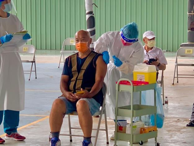 110年7月5日桃源區55-64歲疫苗接種情形
