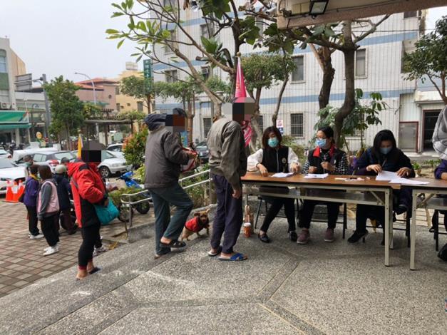 1100123台灣華山聖光慈善會物資發放活動