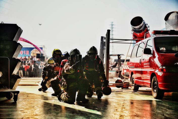 芳生螺絲公司大型消防演練-1080128