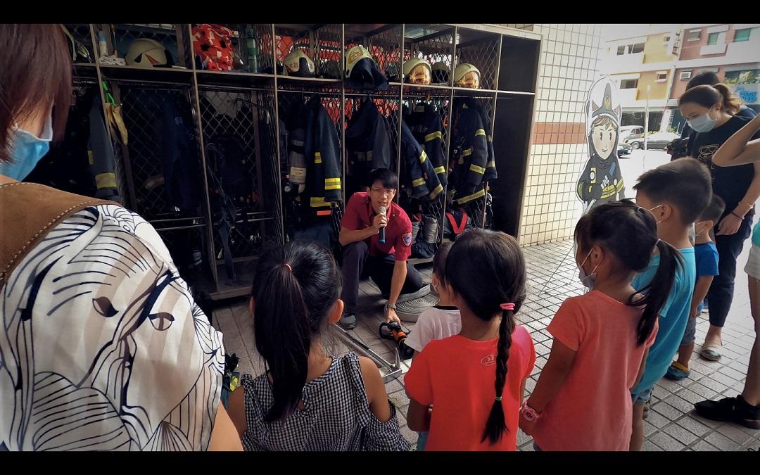 20201121-大昌分隊-親子參訪大昌消防隊體驗宣導