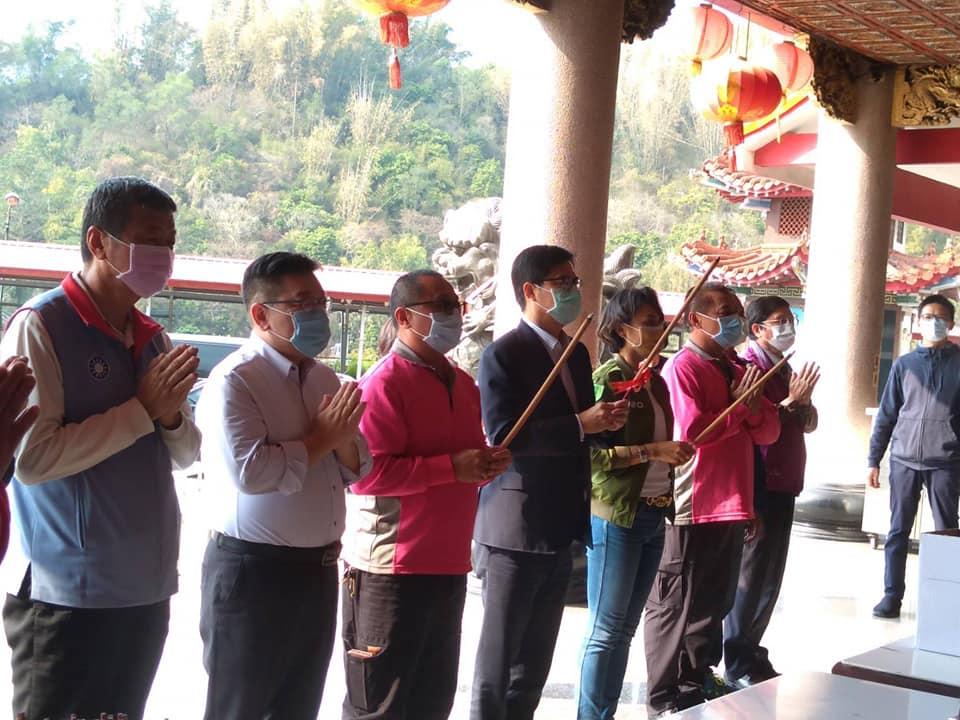110年1月30日市長陳其邁訪視甲仙
