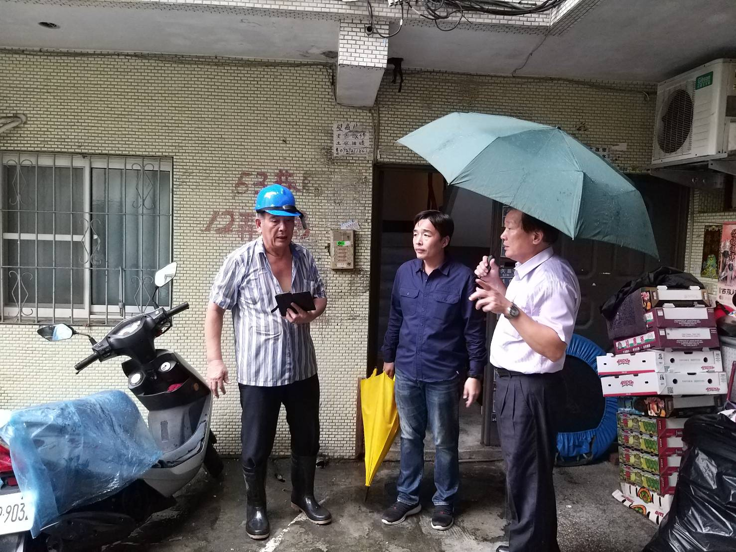 1080720局長視察0719豪雨本區受災情形