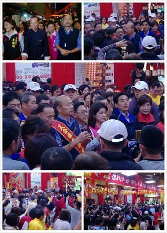 大年初八夜韓市長蒞臨新庄仔天公廟參香為市民祈福