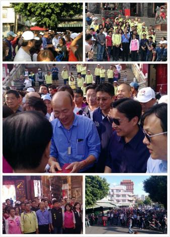 市長本日下午蒞臨左營元帝廟發放小紅包