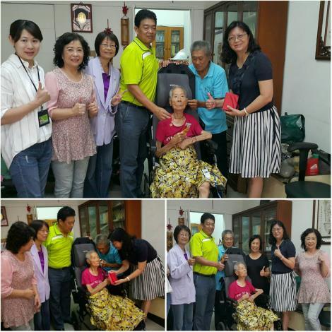 吳淑惠區長暨社會局重陽節探訪左營百歲人瑞