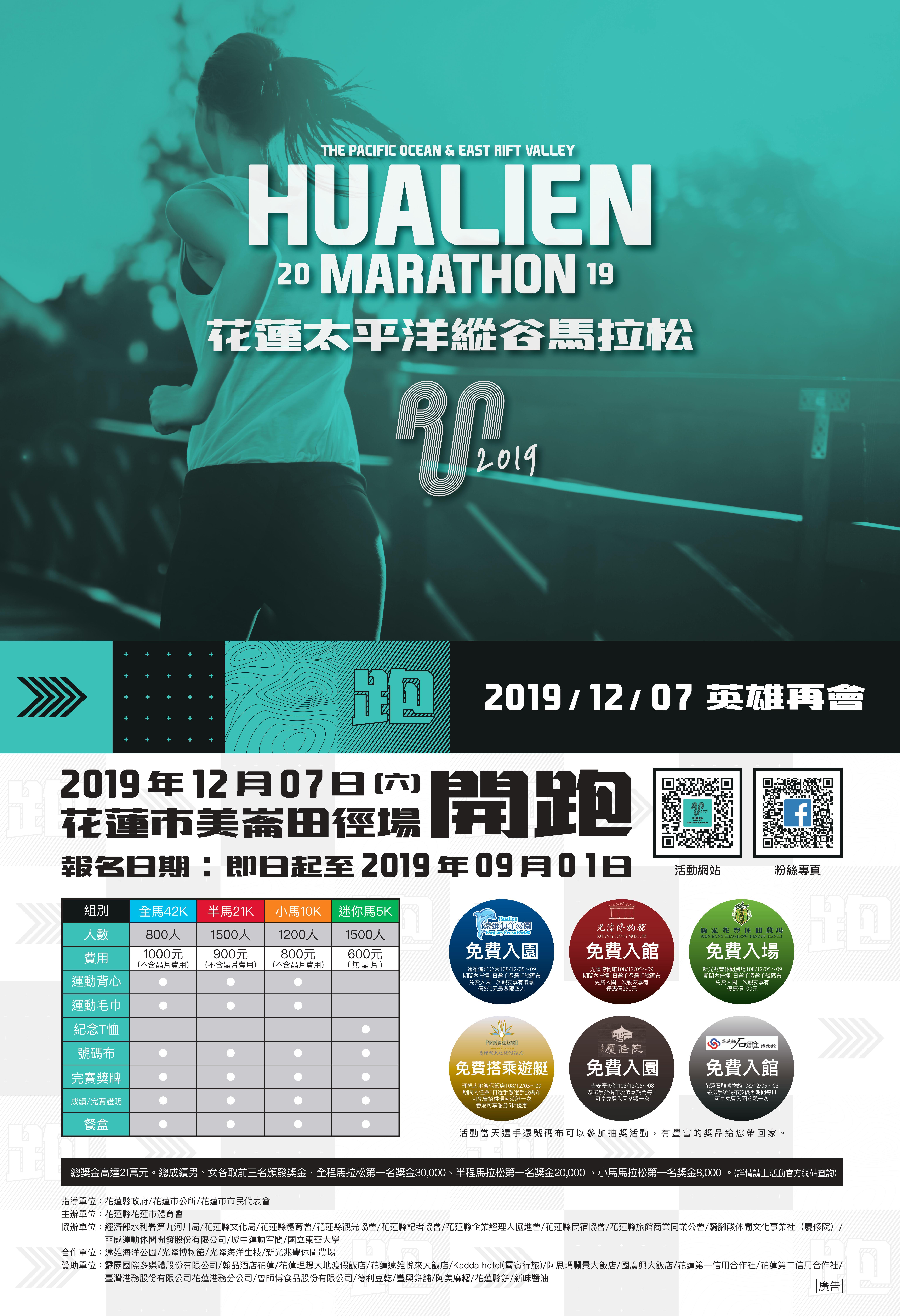 2019花蓮太平洋縱谷馬拉松