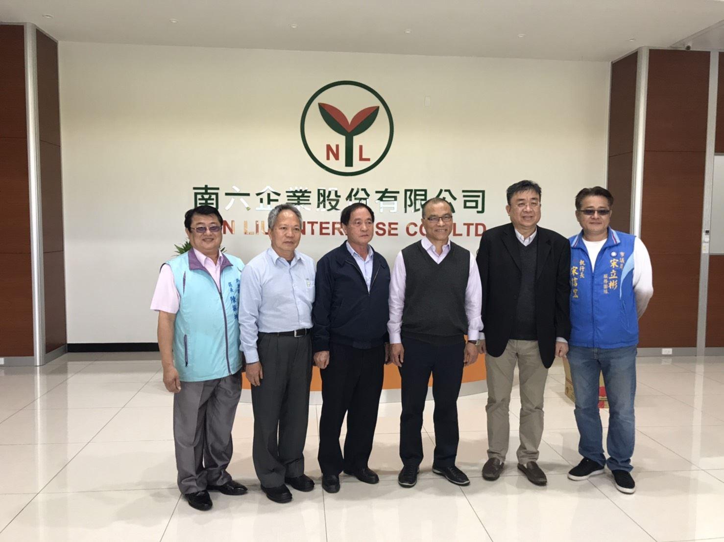 葉匡時副市長訪視亞洲前三大不織布工廠南六企業 與廠商攜手守護市民健康