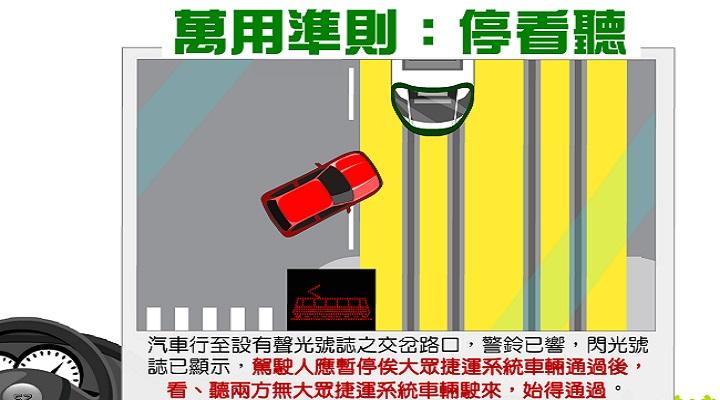 裝飾圖交通宣導-停看聽