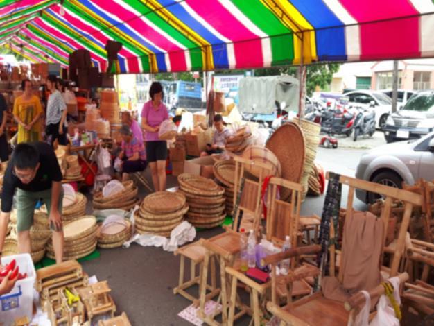 竹編傳統攤販