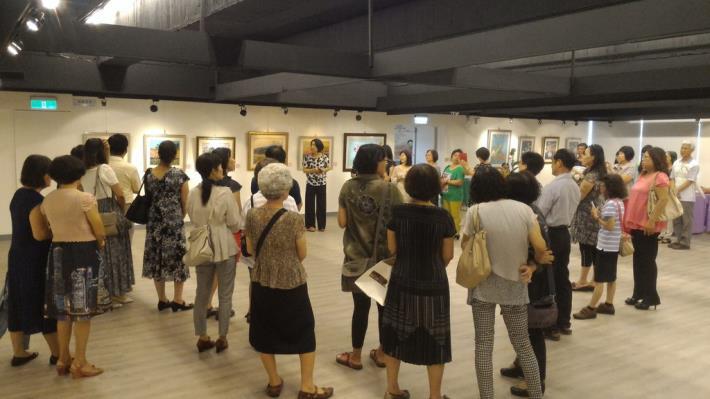 8月展示室-棉紙撕畫聯展