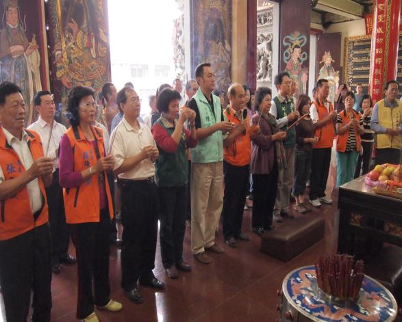 Mayor to visit the temple Gangshan district