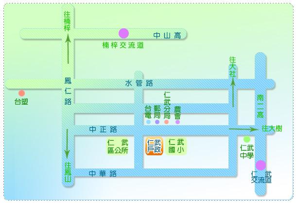 本所交通位置圖