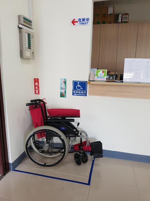 輪椅置放借用區