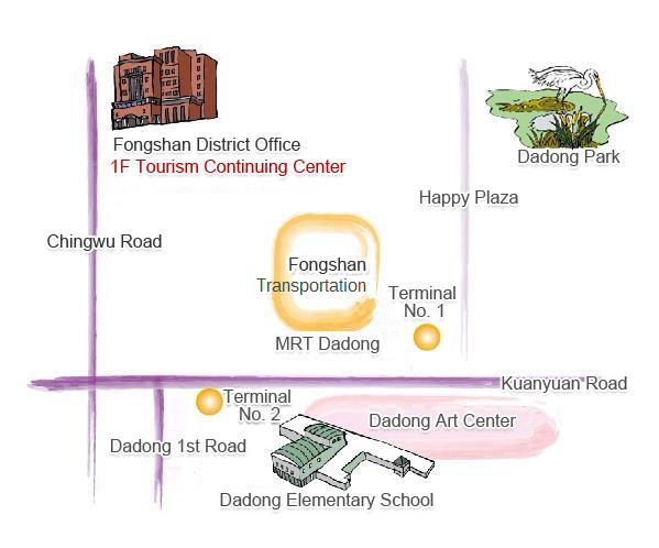 Fongshan District Office map