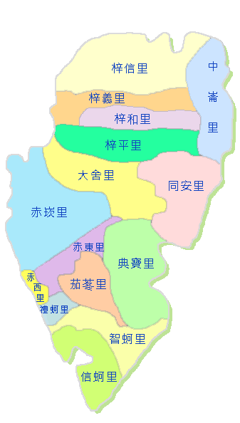梓官區行政圖