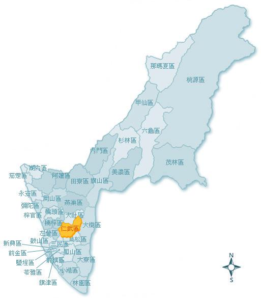 仁武區地理位置圖