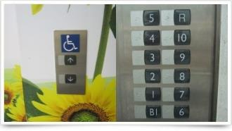 大樓無障礙電梯含樓層點字標示