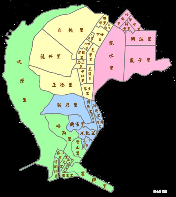 鼓山區各里區域圖