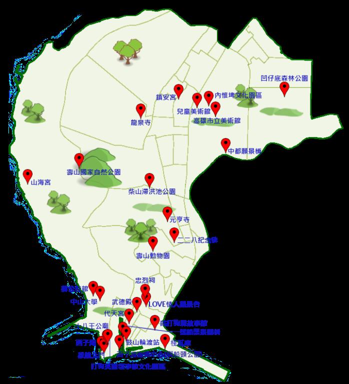 鼓山區景點地圖