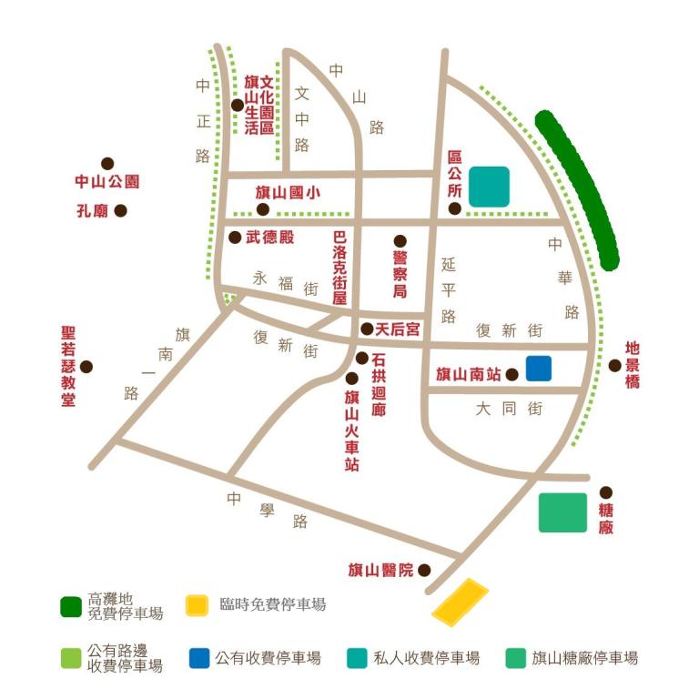 本區停車地點標示圖