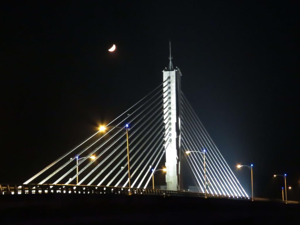 旗山橋晚景