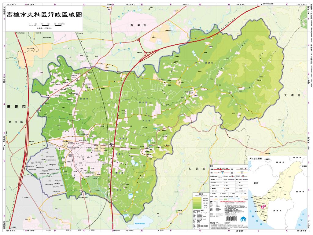 大社區行政區域圖
