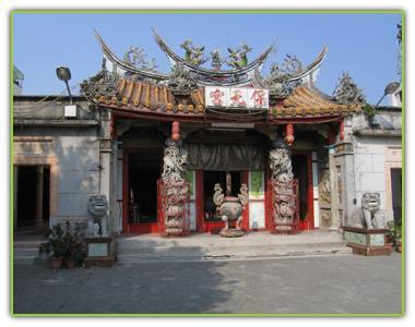 俗稱大社廟的保元宮,為大社古寺廟之一,圖為寺廟舊建築。