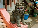 代天府廟前石獅