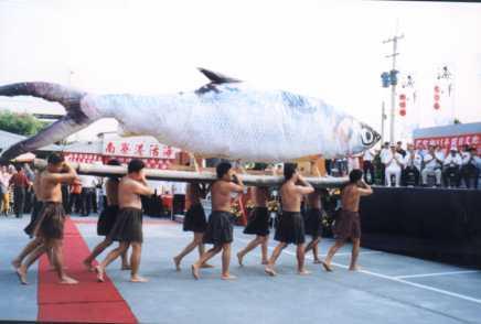 虱目魚節活動開幕進場