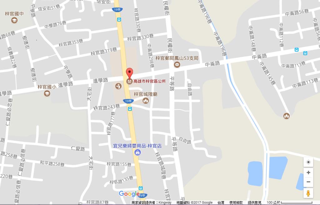梓官區公所交通位置示意圖
