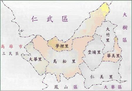 鳥松區域圖
