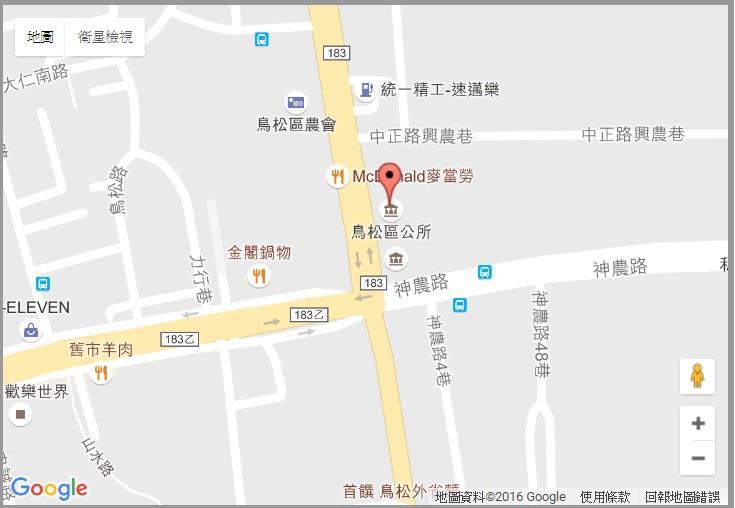 鳥松區公所機關交通位置圖