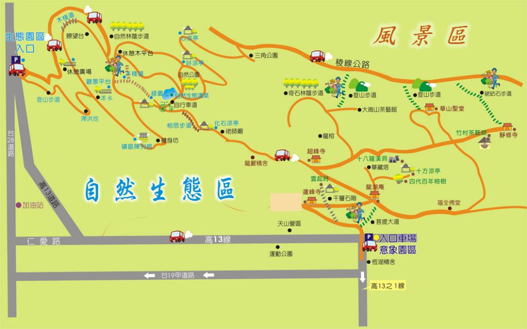 大崗山生態園區導覽圖