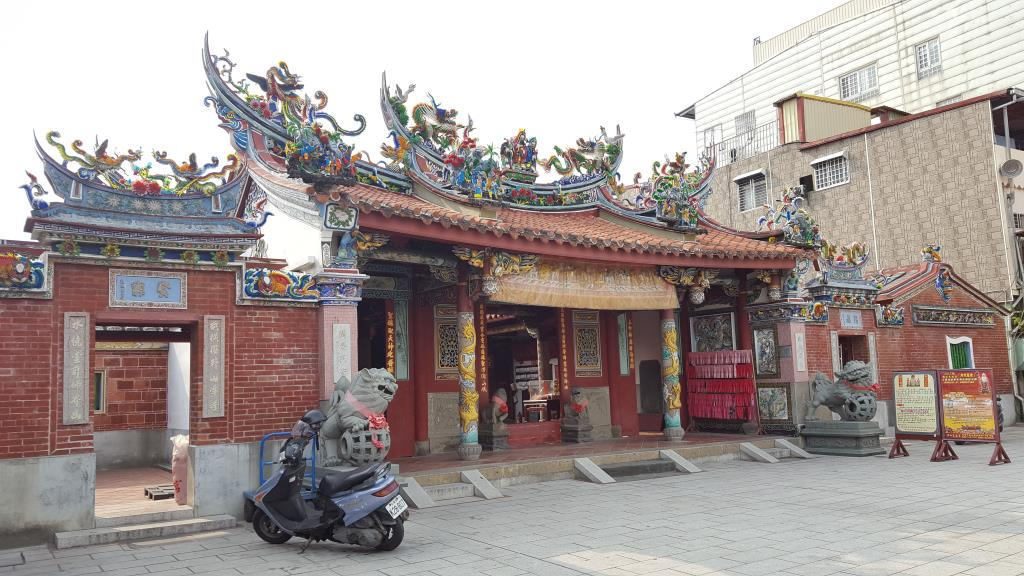 the lateral side  of Tianhou Temple