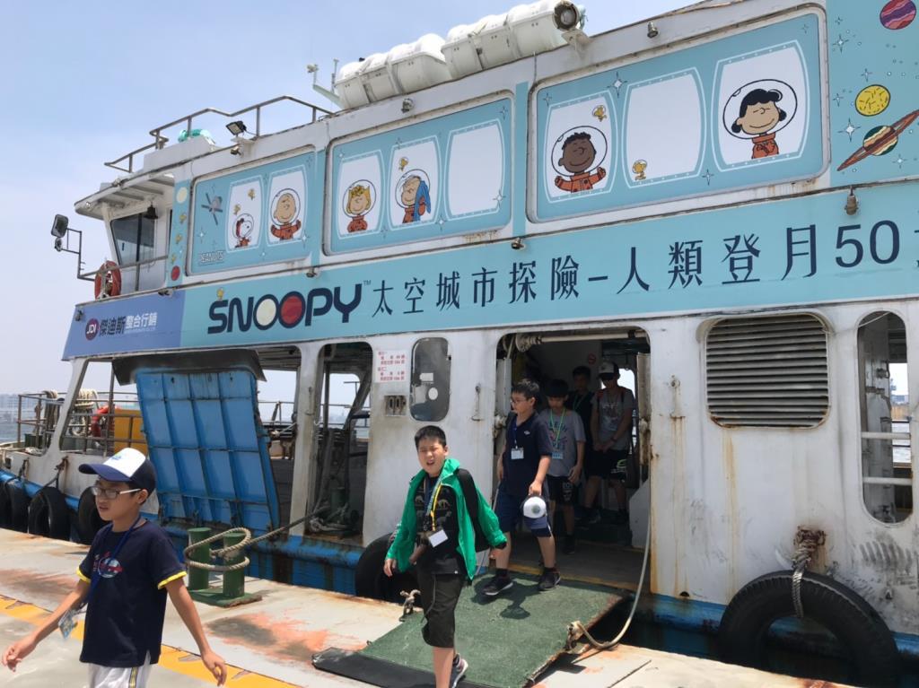 活動照片02_Snoopy50週年渡輪彩繪